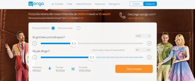 Szybkie Pożyczki Wonga.pl