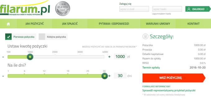 Filarum.pl chwilówki online pożyczki przez internet